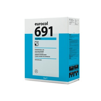 Eurocol 691 poedertegellijm grijs 5 kg