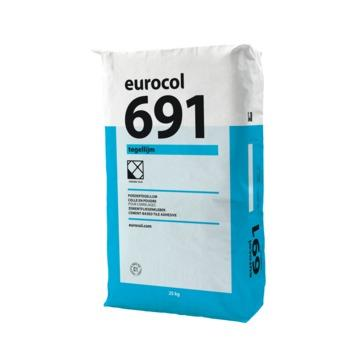 Eurocol 691 poedertegellijm grijs 25kg