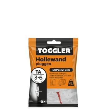 Toggler hollewandplug TA6 3-6 mm 6 stuks