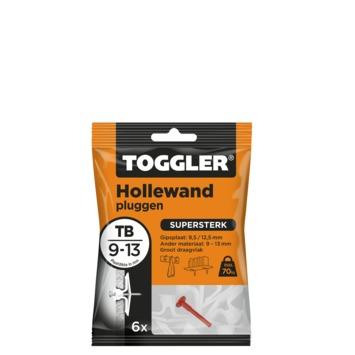 Toggler hollewandplug TB6 9-13 mm 6 stuks