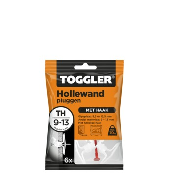 Toggler hollewandplug TH6 9-13 mm 6 stuks