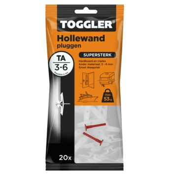 Toggler hollewandplug TA20 3-6 mm 20 stuks