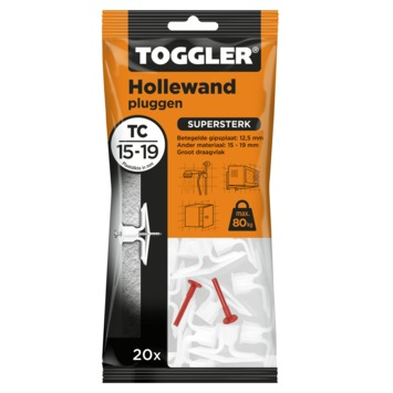 Toggler hollewandplug TC20 16-19 mm 20 stuks