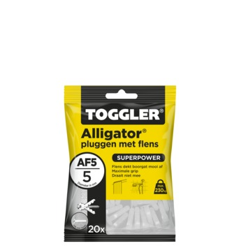 Toggler alligatorplug met flens AF5 5 mm 20 stuks