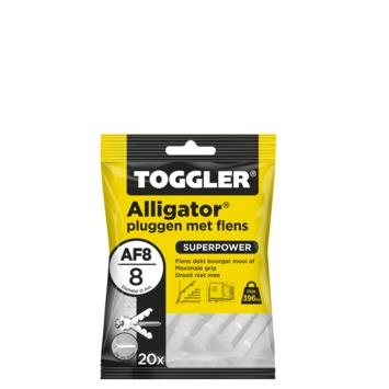 Toggler alligatorplug met flens AF8 8 mm 20 stuks