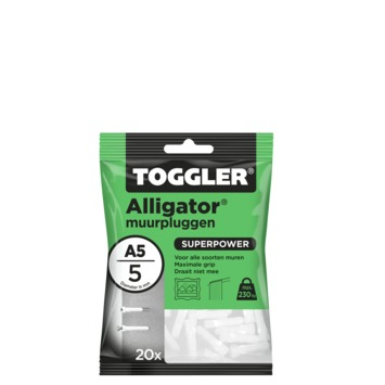 TOGGLER alligatorplug A5 (20 stuks)