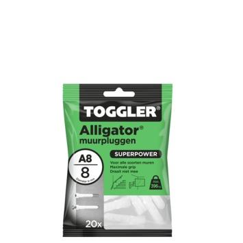 TOGGLER alligatorplug A8 (20 stuks)