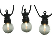 Feestverlichting LED snoer rookglas