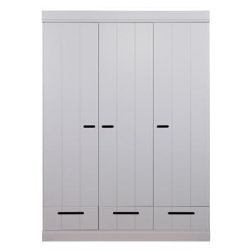 Kast Connect beton grijs 3 deurs met laden