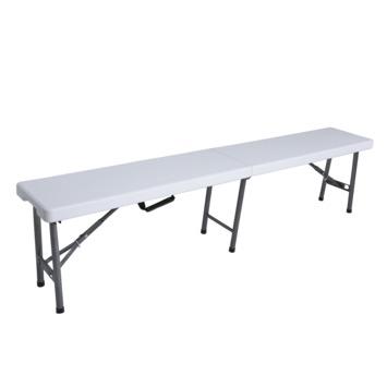 Tuinbank wit kunststof 180 cm