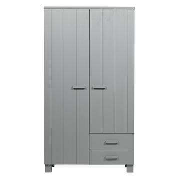 WOOOD 2 deurs kast Dennis beton grijs 200x111x55cm