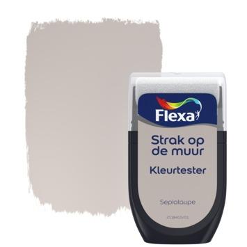 Flexa Strak op de muur kleurtester sepiataupe