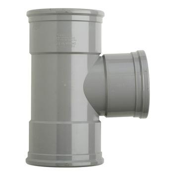Martens PVC T-stuk 90° 3x manchet 125x110 mm