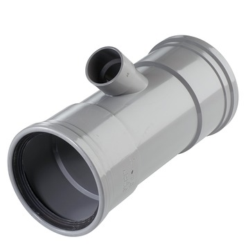 Martens T-stuk 45° PVC grijs 2x schuifmof 1x lijmverbinding 110x40x110 mm