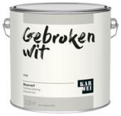 KARWEI muurverf gebroken wit mat 2,5 liter