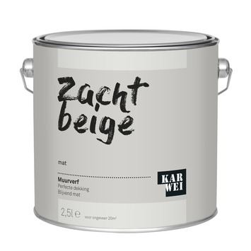 KARWEI muurverf zacht beige mat 2,5 liter