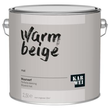 KARWEI muurverf warm beige mat 2,5 liter
