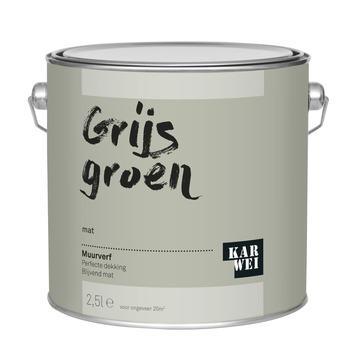 KARWEI muurverf grijs groen mat 2,5 liter