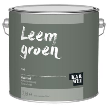 Jade Groen Karwei.Karwei Muurverf Leem Groen Mat 2 5 Liter