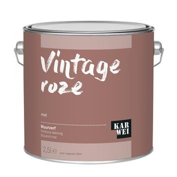 KARWEI muurverf vintage roze mat 2,5 liter