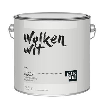 KARWEI muurverf wolken wit mat 2,5 liter