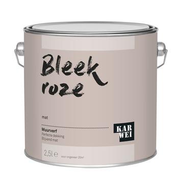 KARWEI muurverf bleek roze mat 2,5 liter