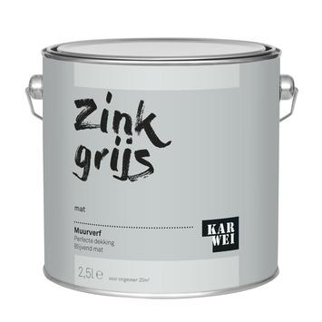 KARWEI muurverf zink grijs mat 2,5 liter