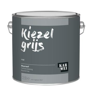 KARWEI muurverf kiezel grijs mat 2,5 liter