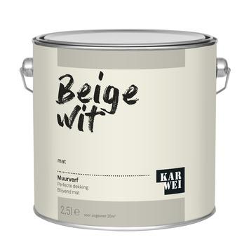 KARWEI muurverf wit beige mat 2,5 liter