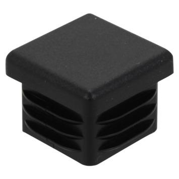 HANDSON Meubeldop vierkant 25x25mm zwart 4 stuks