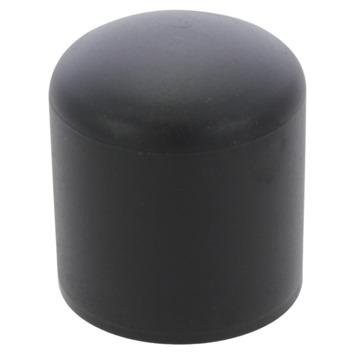 HANDSON meubeldop rond zwart 25 mm 4 stuks
