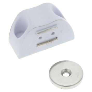 HANDSON magneetsnapper hoek wit 3 kg 2 stuks