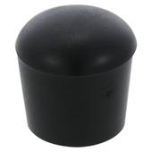 Handson meubeldop rond zwart 16 mm 4 stuks