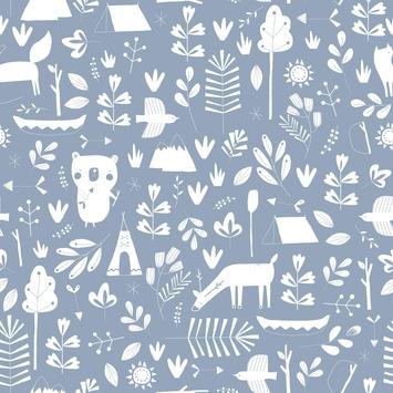 Little Dutch vliesbehang adventure blauw (dessin 8678)