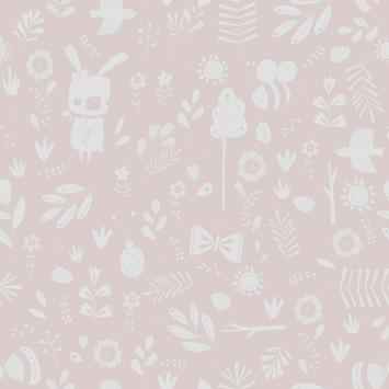 Little Dutch vliesbehang adventure roze (dessin 8683)