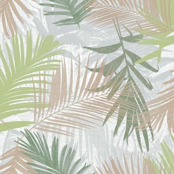 Vliesbehang jungle glam wit-goud-groen (dessin 104265)