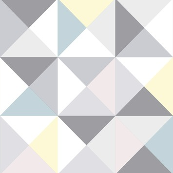 Vliesbehang polygone pastel (dessin 101353)