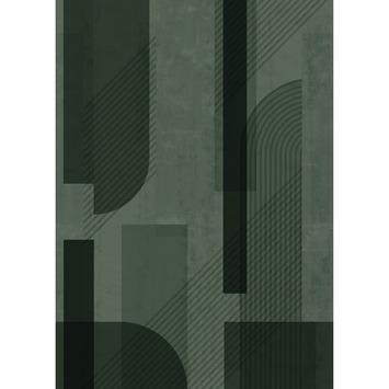 Fotobehang eighties green (dessin 107343)