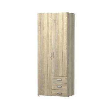 Garderobekast Ivet 2-deurs licht eiken