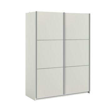 Garderobekast Janneke 152 cm wit/houtnerf