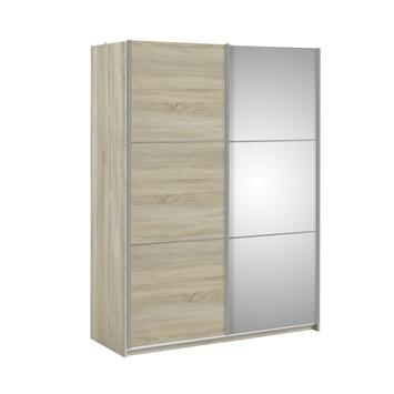 Garderobekast Janneke 180 cm licht eiken + spiegel