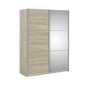 Garderobekast Janneke 152 cm lichteiken + spiegel