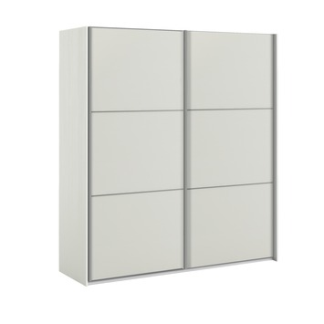 Garderobekast Janneke 180 cm wit/houtnerf