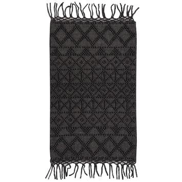 Vloerkleed Madras zwart 60x100 cm OP=OP