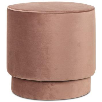 Poef Kristy velvet roze 44cm