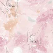 Papierbehang Tinkerbel watercolour roze (dessin 106454)