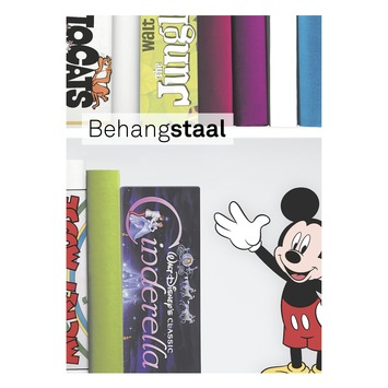 Behangstaal papierbehang Disney boekenkast multicolour (dessin 106455)