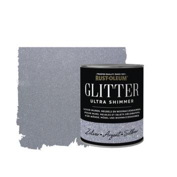 Rust-Oleum glitterverf ultra shimmer silver 750 ml