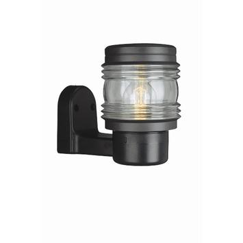 Buitenlamp Met Sensor Zwart.Massive Marine Buitenlamp Dag Nacht Sensor 711620130 Zwart