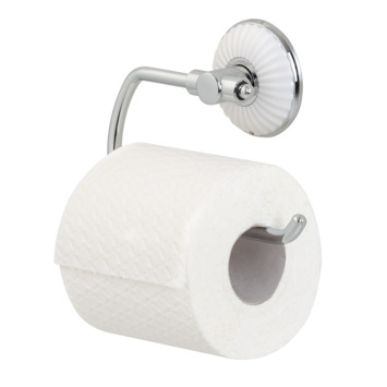 Tiger Ivy toiletrolhouder chroom/wit